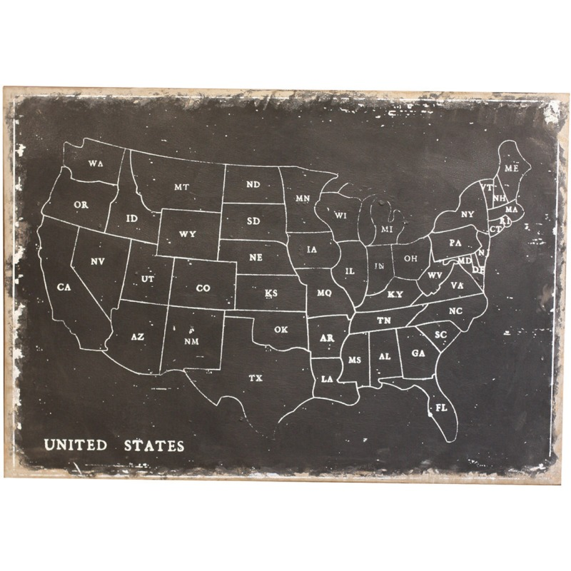 United States Map Wall Decor.Home Accents United States Map Wall Decor By Ashley Furniture
