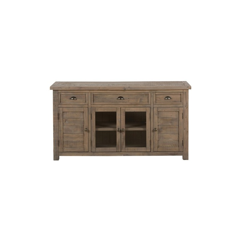 Slater Mill Pine 60 Reclaimed Wood Media Unit For Tv By Jofran 942